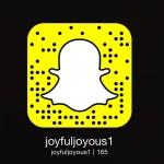 I've been quite active on #snapchat recently. Add me joyfuljoyous1…