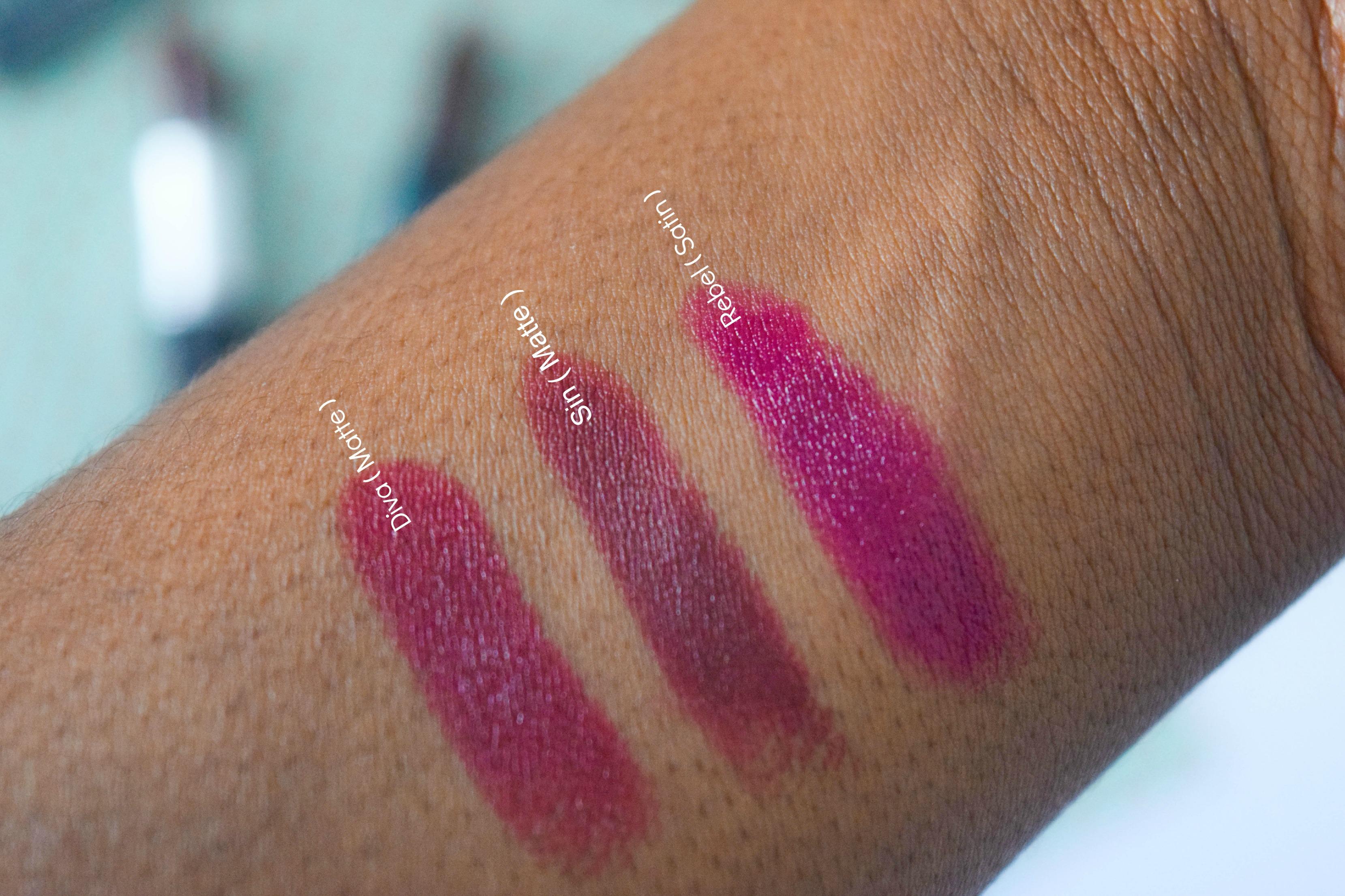 Dark Lipstick Swatch